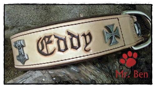 Hundehalsband - Modell Eddy (Name frei wählbar)