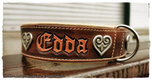 Hundehalsband - Modell Edda (Name frei wählbar)