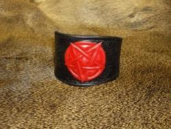 Armband - Pentagramm mit Druckknopf