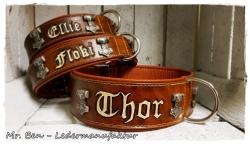 Hundehalsband - Modell Thor (Name frei wählbar)
