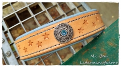 Hundehalsband - Stars Blue