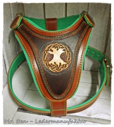 leather dog harness - Yggdrasil