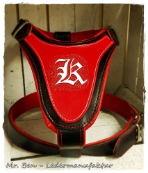 leather dog harness - custom